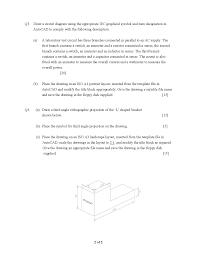 orthographic projection technical drawing and draughting past