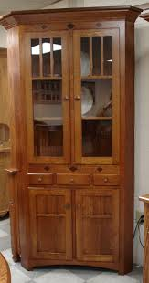 china cabinet royal mission corner hutch from dutchcrafters