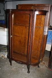 Curio Cabinets Ebay Antique Curved Glass Curio Cabinet Would Like To Find One For