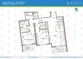floor plan of continental towers new marina dubai dubai