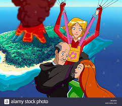 clover jerry u0026 sam totally spies 2001 stock photo royalty free