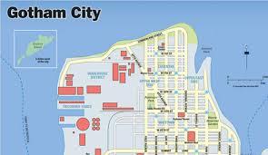 Dc Comics Map Batman V Superman Gotham City U0026 Metropolis Maps Revealed