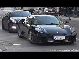 black f430 f430 matte black nissan gt r cruising in vienna