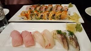 cuisine haba top botton haba saba roll eel salmon roll snapper hamachi