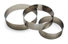 cercle de cuisine cercle à vacherin hauteur 6 cm inox sans fond cercles de cuisine