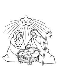 printable nativity coloring cut