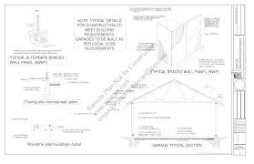 1 5 Car Garage Plans G447 18 U0027 X 20 U0027 X 10 U0027 Garage Plans Blueprints Construction