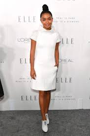 yara shahidi in chanel at elle magazine women in hollywood event