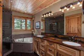rustic trim ideas bathroom contemporary with wood ceiling hickory