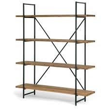 Steel Frame Bookcase Ailis 75