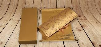 indian wedding scroll invitations asian wedding scroll invitations uk wedding invitation sle