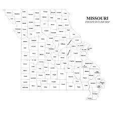 Map Missouri Missouri County Map U2013 Jigsaw Genealogy