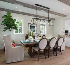 what size linear pendant over long dining room table