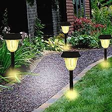 Led Christmas Pathway Lights Amazon Com Solar Lights Outdoor Decorative Pathway Light For