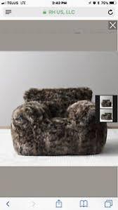 restoration hardware luxe faux fur bean bag chair ebay