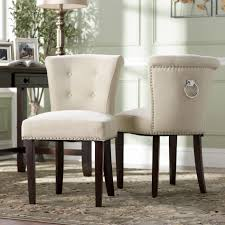 Tufted Dining Chair Set Tufted Dining Chairs With Nailheads
