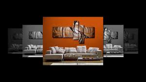 decorating living room design modern wall art painting ideas youtube