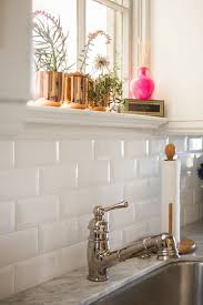 backsplash white tile kitchen mirror mirorred glass polished