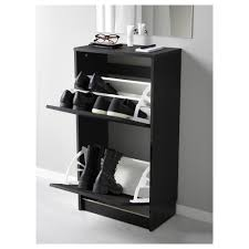 bissa shoe cabinet with 2 compartments black brown 49x93 cm ikea