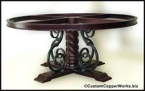 Copper Top Dining Room Tables Dining Table Round Copper Top Dining Table Round Copper Top