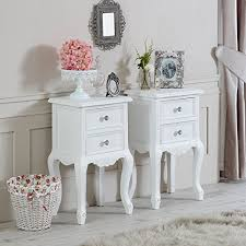 two drawer bedside table elise white range furniture bundle pair of white two drawer
