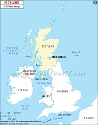 France On A Map by Scotland On Map Ireland Map