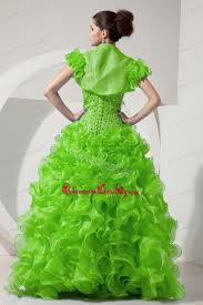 spring green a line princess sweetheart floor length organza