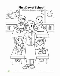 coloring worksheet education