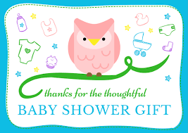 thank you baby shower baby shower thank you notes free wording exles
