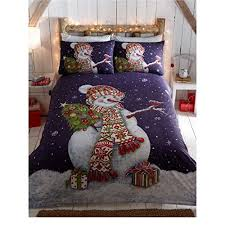 Christmas Duvet Covers Uk Happy Snowman Christmas Quilt Duvet Cover And 2 Pillowcases