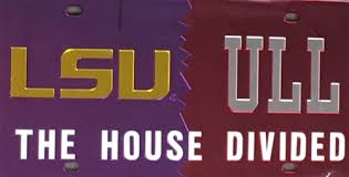 lsu alumni license plate ull house divided license plate
