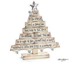 beautiful distressed decorative wood tree with scripture