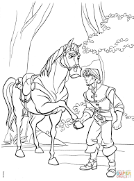 flynn and maximus agree to a truce coloring page free printable