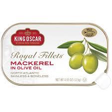 King Oscar Sardines Mediterranean Style - king oscar skinless boneless mackerel in olive oil walmart com