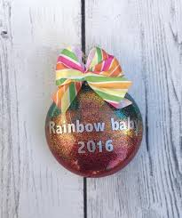 infant loss ornament rainbow baby christmas ornament my three hearts