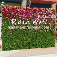 wedding backdrop grass artificial silk flower wall backdrop for wedding decoration buy