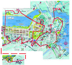 Boston Harbor Map by Boston Beantown Trolley Map Boston Massachusetts U2022 Mappery
