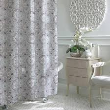 Silver And White Shower Curtain Bathroom Awesome Ruffle Shower Curtain For Decoration Bathroom
