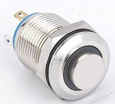 12 volt push button light switch china 12mm high head ring illuminated momentary led push button
