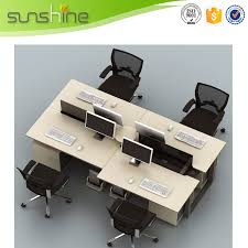 Compact Computer Desk T Shade Office Partition Screen 4 Person Compact Computer Desk