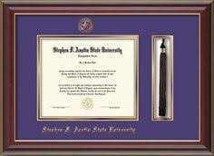 diploma frames with tassel holder ecu diploma frame satin black w tassel holder purple on gold