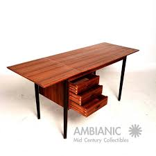 Danish Modern Teak Desk by Desk With Sculptural Steel Pulls By H P Hansen At 1stdibs Idolza