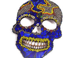 Day Of The Dead Home Decor Beaded Sugar Skull Lamp Day Of The Dead Skull Gothic Skull