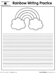 rainbow printable writing practice page a to z teacher stuff