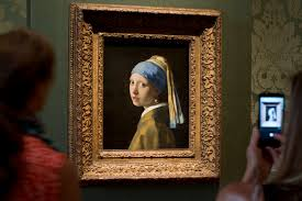 painting the girl with the pearl earring girl with pearl earring comes home to daily mail online