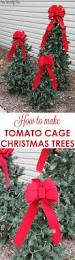 How To String Lights On Outdoor Tree Branches by Tiered Tomato Cage Christmas Trees Tomato Cage Christmas Tree