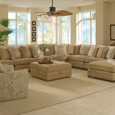 light brown fabric corner sectional chaise sofa which equipped