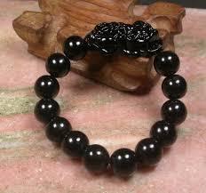 black bead bracelet ebay images Chinese black jade bead dragon pi xiu coin bangle feng shui jpg