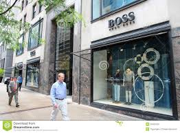 Magnificent Mile Chicago Map by Hugo Boss Store Editorial Image Image 33459760