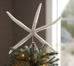 Pottery Barn Tree Glitter Starfish Tree Topper Pottery Barn Christmas